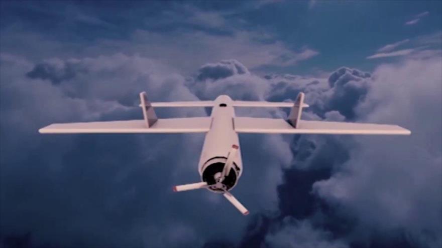 Foto ilustrativa del dron yemení modelo Qasif 2K.