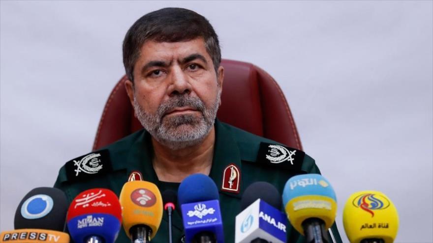 El portavoz del Cuerpo de Guardianes de la Revolución Islámica (CGRI) de Irán, el general de brigadaRamezan Sharif.