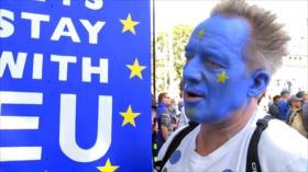 Detractores del Brexit y Boris Johnson toman calles de Londres