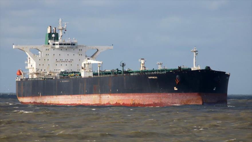 El petrolero Happiness 1, propiedad de la Compañía Nacional de Petróleo de Irán (NIOC, por sus siglas en ingles).