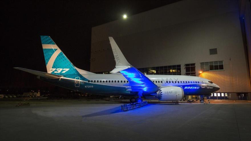 Un avión modelo 737 MAX de la compañía estadounidense Boeing.