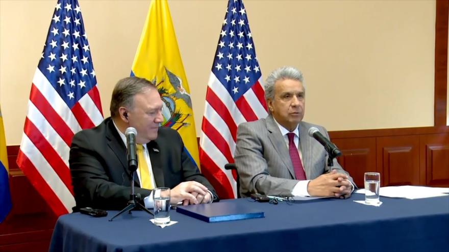 Lenín Moreno y Mike Pompeo se reúnen en medio de cuestionamientos