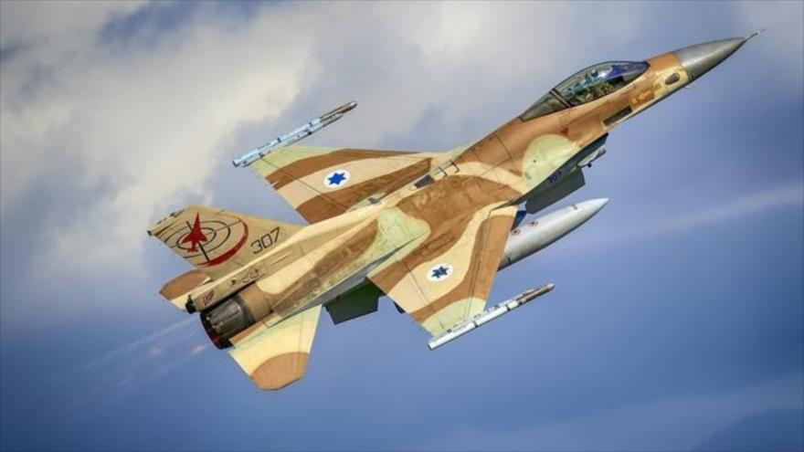 Un caza F-16 del régimen de Israel.