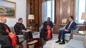 Al-Asad recibe mensaje de apoyo de papa Francisco a Siria