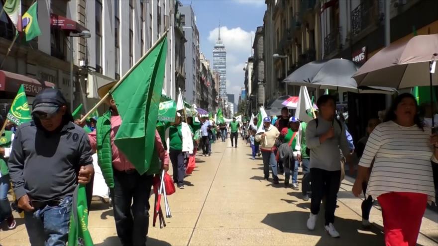 Marchan campesinos mexicanos, quieren recursos