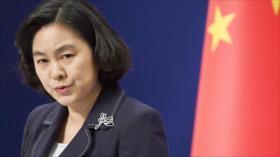 "China insta a EEUU a sacar sus ""manos negras"" de Hong Kong"
