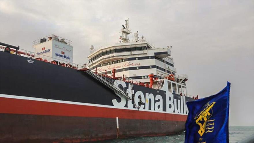 Petrolero británico Stena Impero en el puerto de Bandar Abás, sur de Irán, 22 de julio de 2019. (Foto: AFP)