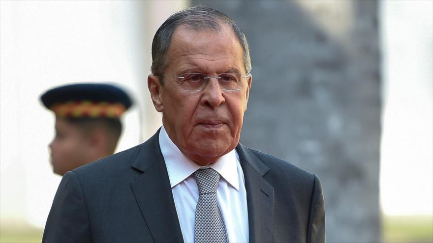 El canciller de Rusia, Serguéi Lavrov, en el Palacio Itamaraty, sede del Ministerio de Asuntos Exteriores de Brasil, Rio de Janeiro, 26 de julio de 2019. (Foto: AFP)