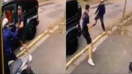Vídeo: Desconocidos tratan de robarle el coche a Özil con cuchillo