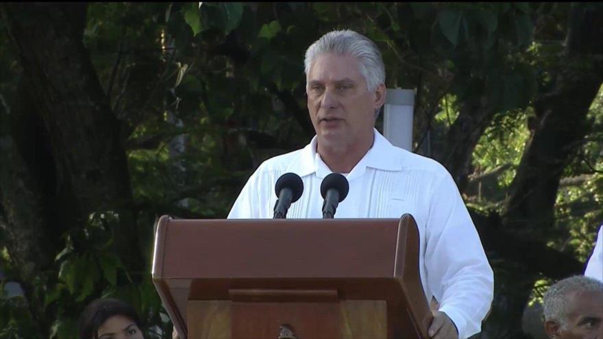 """Díaz-Canel censura el """"plan genocida"""" de EEUU contra Cuba"""