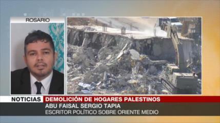 """""""Demolición israelí en Al-Quds busca materializar acuerdo de siglo"""""""