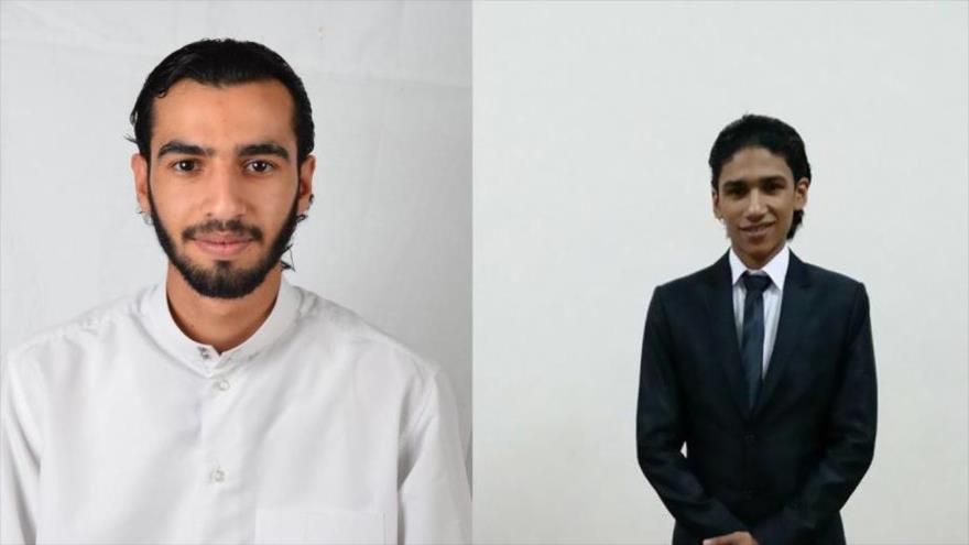 Ali Hakim al-Arab (izda.), y Ahmad al-Mulali, dos de los tres activistas bareiníes ejecutados.
