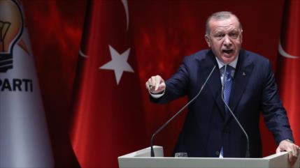Presidente turco promete oponerse a cualquiera que apoye a Israel