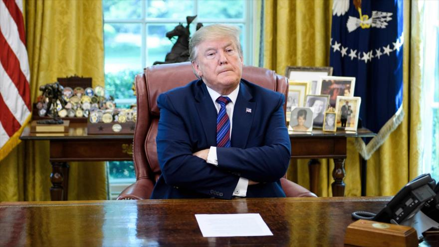 El presidente de EE.UU., Donald Trump, en la Casa Blanca, 26 de julio de 2019. (Foto: AFP)