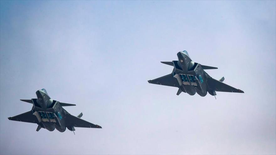 Caza furtivo de China en posición de ataque contra EEUU y Taiwán | HISPANTV