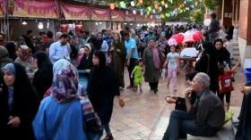 Festival de helados y bebidas refrescantes en Teherán