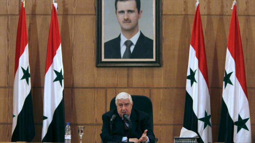 El ministro de Asuntos Exteriores de Siria, Walid al-Moalem.