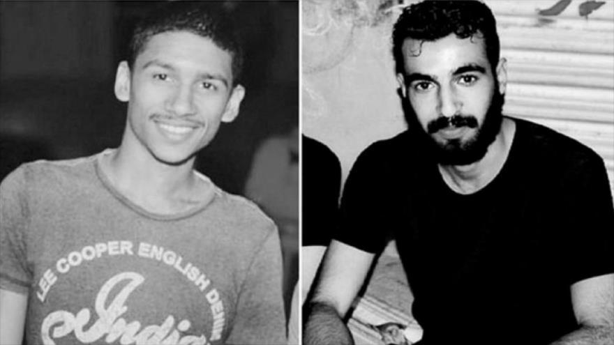 Ali Hakim al-Arab (dcha.) y Ahmad al-Mulali, jóvenes activistas ejecutados en Baréin.