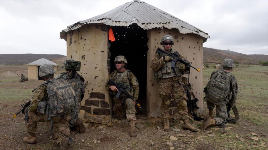 Soldados estadounidenses desplegadps en Senegal.