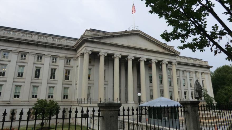 La sede del Departamento del Tesoro de EE.UU., ubicada en Washingto.