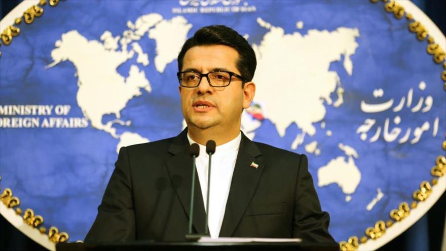 El vocero de la Cancillería de Irán, Seyed Abás Musavi, en una conferencia de prensa en Teherán (capital persa).