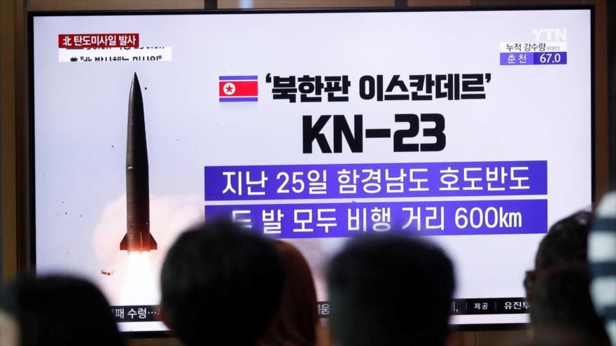 """""""Pyongyang probó nuevo sistema de cohetes guiados de gran calibre""""   HISPANTV"""