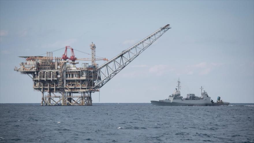 Una plataforma de extracción de gas natural en la costa de los territorios ocupados palestinos.