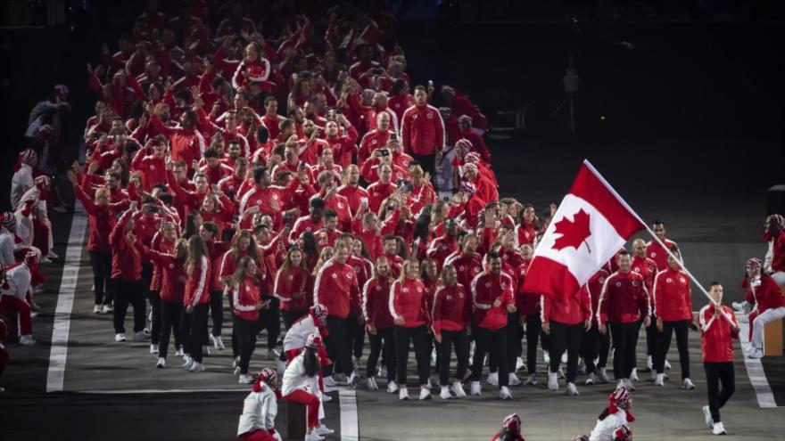 Equipo de Canadá en los juegos Panamericanos Lima 2019.