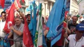 Manifestación importante del sector de seguridad en Roma