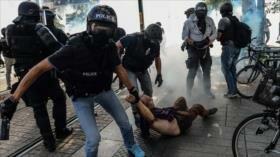 Francia reprime protestas contra violencia policial en Nantes