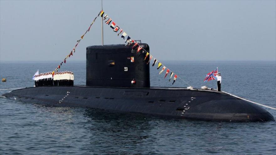Un submarino ruso de modelo Varshavyanka.