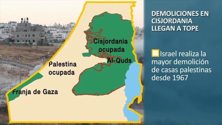 PoliMedios: Demoliciones en Cisjordania llegan a tope