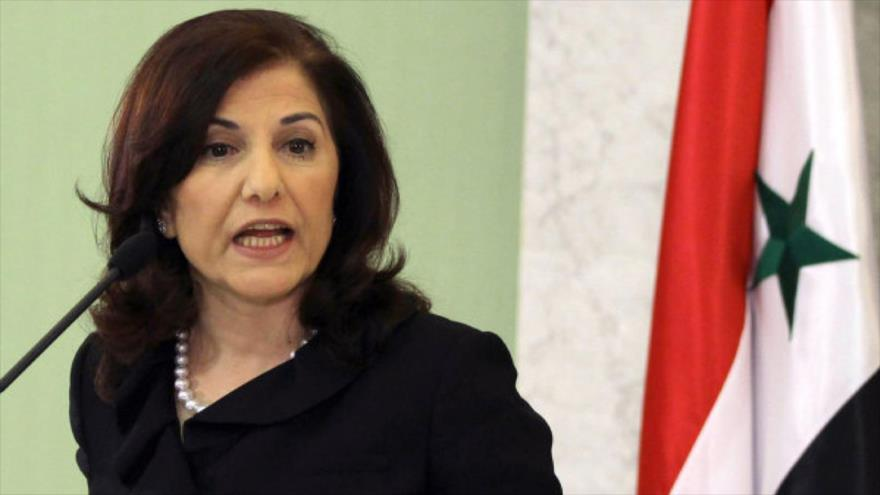 La consejera política y de información de la Presidencia de la República Siria, Buzaina Shaaban.
