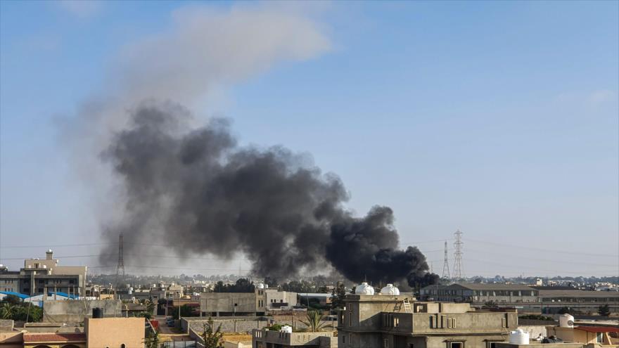 Tropas de Haftar bombardean una base de drones de Turquía en Libia | HISPANTV