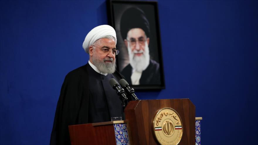 El presidente de Irán, Hasan Rohani, ofrece un discurso en un evento en Teherán, la capital persa, 7 de agosto de 2019. (Foto: President.ir)