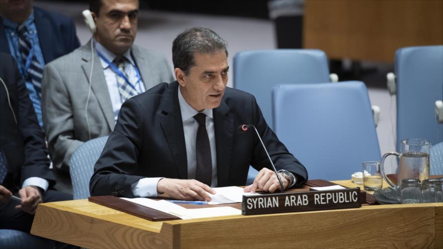 El encargado de negocios interino de la misión permanente de Siria ante la ONU, Louai Falluh, 7 de agosto de 2019. (Foto: UN)