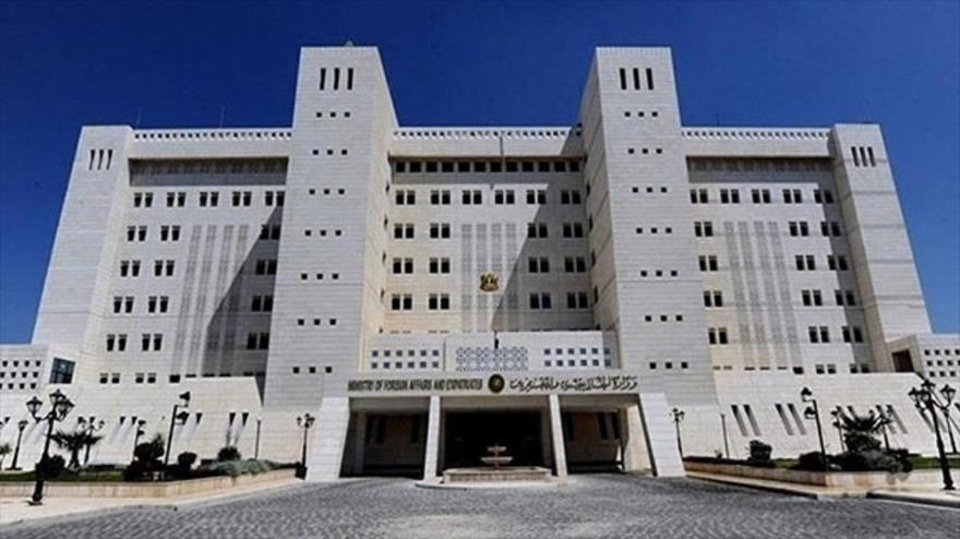 La sede del Ministerio de Asuntos Exteriores de Siria en Damasco, la capital.