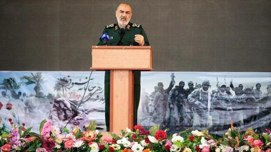 El comandante en jefe del Cuerpo de Guardianes de la Revolución Islámica (CGRI) de Irán, el general de división Hosein Salami, en Kermanshah, 8 de agosto de 2019.