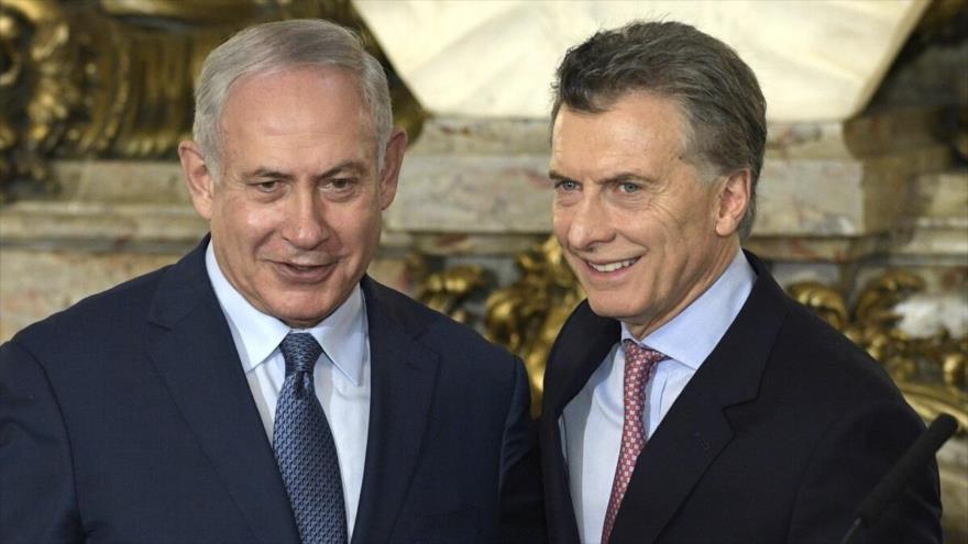 El presidente argentino, Mauricio Macri (dcha.), y el premier israelí, Benjamín Netanyahu, en Buenos Aires, septiembre de 2017.