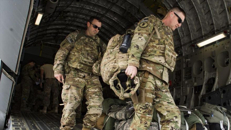 Fuerzas estadounidenses desplegadas en Irak, 13 de abril de 2018.
