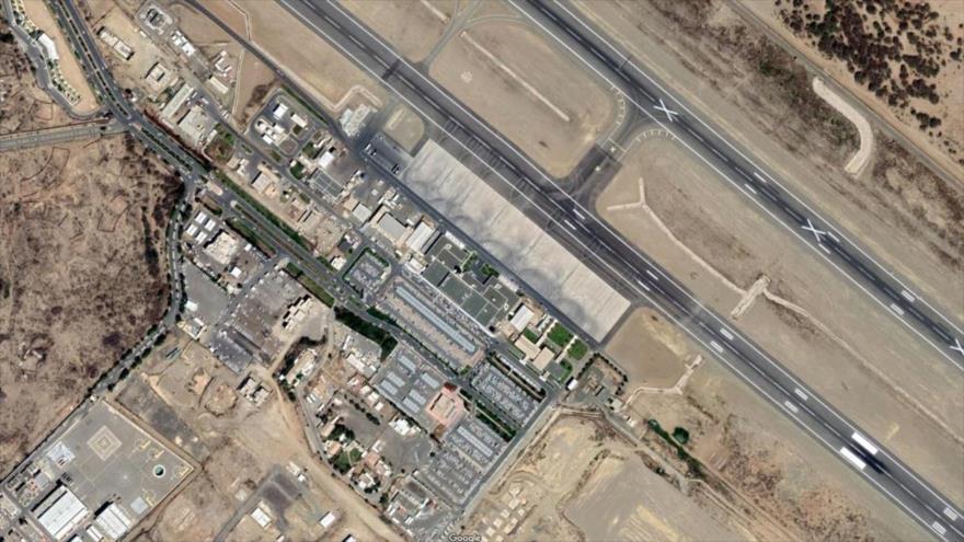 Foto satelital del aeropuerto saudí de Abha, en el suroeste de Arabia Saudí.