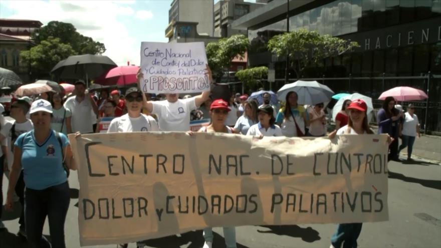 Huelga en servicios de salud en Costa Rica cumple cuatro días