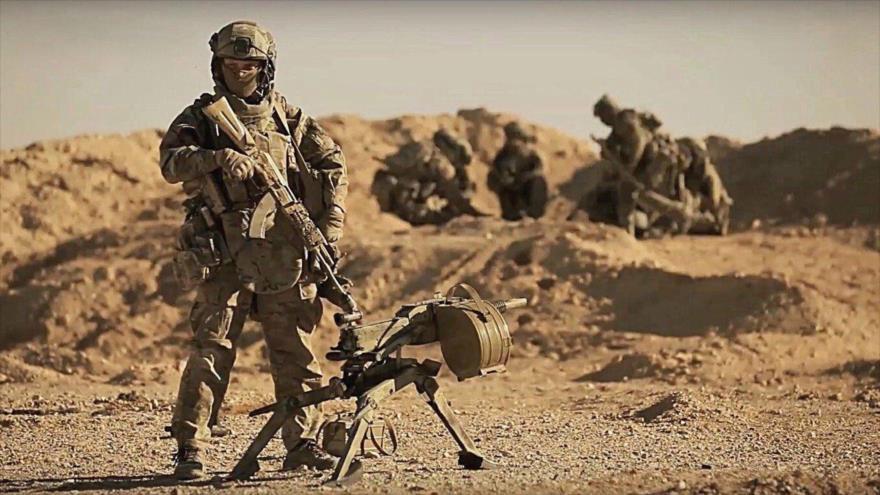 Fuerzas especiales rusas en una oepraicón cerca de Palmira (Siria).