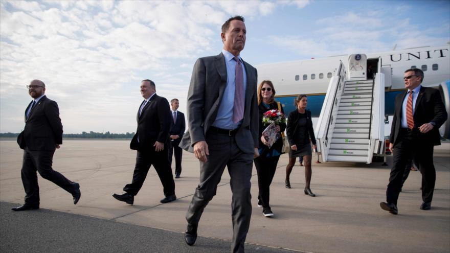 El embajador de EE.UU. en Alemania, Richard Grenell, en el aeropuerto de Berlín, la capital germana, 31 de mayo de 2019. (Foto: AFP)