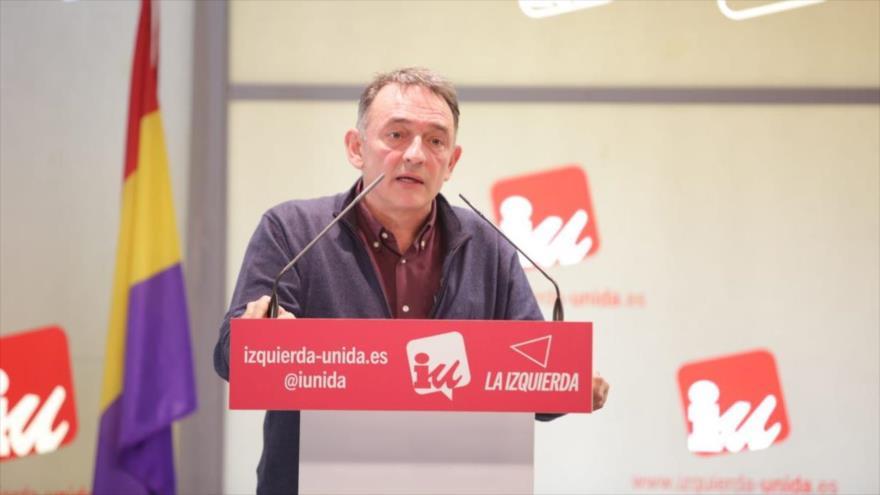 El diputado del partido español Izquierda Unida (IU), Enrique Santiago.