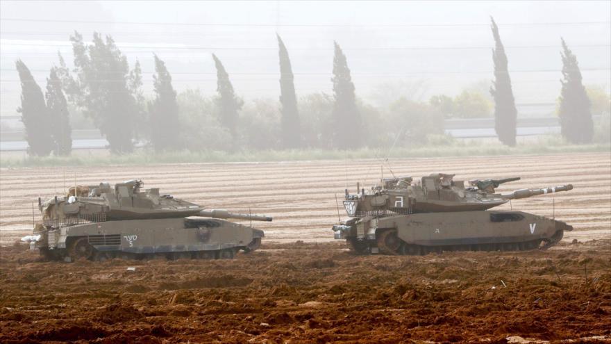 Tanques israelíes desplegados cerca de la Franja de Gaza, 1 de agosto de 2019. (Foto: AFP)