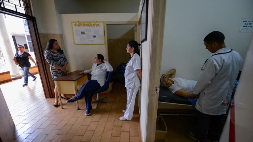 El Hospital de la Cruz Roja en Caracas, capital de Venezuela, 17 de abril de 2019. (Foto: AFP)