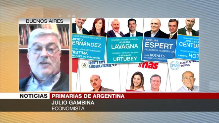 Gambina: Es probable que gane el peronismo en Argentina