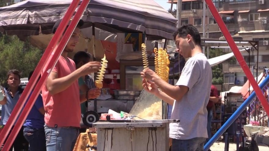 La paz reina en Damasco en las fiestas del Eid al-Adha