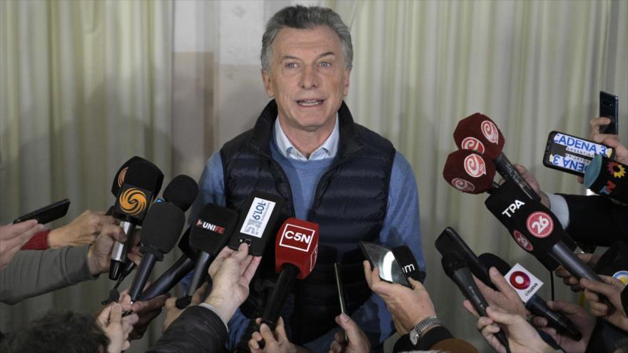 Macri admite su derrota en las elecciones primarias de Argentina